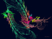 Savad Digital Art - Fractal - Winged Dragon by Susan Savad