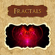 Fractals Metal Prints - Fractals button Metal Print by Mike Savad
