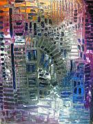 Pallet Knife Prints - Fracture Print by Michael Kulick