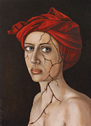 Piercing Eyes Prints - Fractured Identity edit 1 Print by Leah Saulnier The Painting Maniac