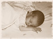 Lee Farley Prints - Fragile baby girl Print by Lee Farley