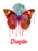Illustration Posters - Fragile Poster by Gary Grayson