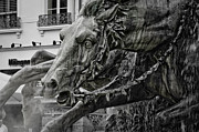 Fontain Metal Prints - Fragment of Bartholdi fountain Metal Print by Oleg Koryagin