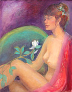 Figure Pose Paintings - Fragrance of a Dream by Gwen Carroll