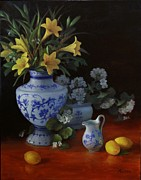 Porcelain Paintings - Fragrance of Summer by Diane Reeves