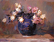 Top Seller Paintings - Fragrant Rose Petals by David Lloyd Glover