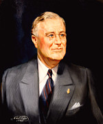 Franklin Painting Posters - Frainklin Delano Roosevelt Poster by Art By Tolpo Collection