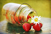 Mason Jar Prints - Fraises Print by Darren Fisher