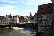 Old Frame Houses Prints - Frame House And River - Bamberg Print by Christiane Schulze