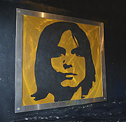 Autographed Guitars Posters - Framed Rendering of Jim Morrison Poster by Renee Anderson