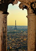 Jsm Fine Arts Framed Prints - Framing the Eiffel Tower Framed Print by John Malone