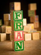 Wooden Blocks Framed Prints - FRAN - Alphabet Blocks Framed Print by Edward Fielding