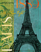 Maps Painting Prints - Francaise 1 Print by Debbie DeWitt