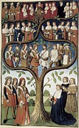 Middle Ages Prints - France 15th C.. The Hierarchy Print by Everett