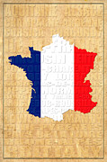 France Map Prints - France Print by Andrew Fare
