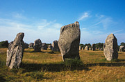 Rock Photos Posters - France Brittany Carnac Ancient Megaliths  Poster by Anonymous