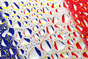 Surrealistic Photography Posters - France Flag In Water Drops Poster by Paul Ge