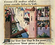 Miniatures Art - France. Hundred Years War. Death by Everett