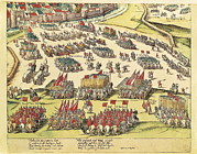 Protestantism Framed Prints - France. Wars Of Religion. Siege Framed Print by Everett