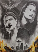 Rock Icon Drawings Posters - Frances Farmer Will Have Her Revenge On Seattle Poster by Amber Stanford