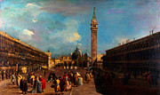 High Society Posters - Francesco Guardi Venice Piazza San Marco Poster by MotionAge Art and Design - Ahmet Asar