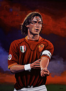 Field Goal Framed Prints - Francesco Totti Framed Print by Paul Meijering