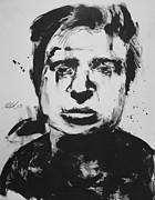 Michael Drawings Framed Prints - Francis Bacon Framed Print by Michael Kulick