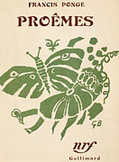 Book Cover Design Art - Francis Ponge: Proemes by Granger