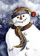 Franci's Snowman Print by Sam Sidders