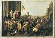 Pontius Pilate Framed Prints - Francken Ii, Frans 1581 - 1642. The Framed Print by Everett