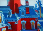 Red School House Paintings - Franco American School by Debra Bretton Robinson