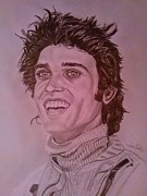Motorsport Drawings - Francois Cevert by Juan Mendez