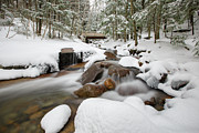 Snow-covered Landscape Photo Prints - Franconia Notch State Park - White Mountains New Hampshire USA - Flume Gorge Print by Erin Paul Donovan