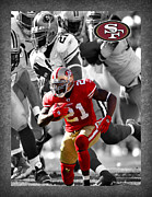Gore Framed Prints - Frank Gore 49ers Framed Print by Joe Hamilton
