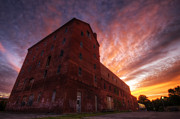 Food And Beverage Framed Prints - Frank Jones Brewery Sunset Framed Print by Eric Gendron