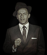 Leading Singer Framed Prints - Frank Sinatra - Actor Singer Framed Print by Daniel Hagerman