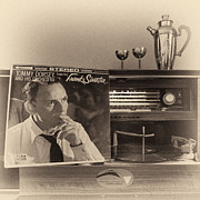 Martini Shaker Photos - Frank Sinatra Croons to You by Nancy Strahinic
