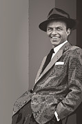 Leading Singer Framed Prints - Frank Sinatra Framed Print by Daniel Hagerman