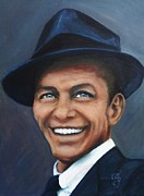 Singer Paintings - Frank Sinatra by Shirl Theis