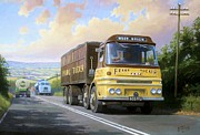United Kingdom Paintings - Frank Tuckers ERF. by Mike  Jeffries