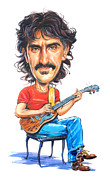 Caricature Paintings - Frank Zappa by Art