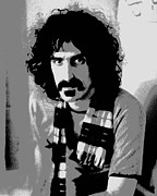 Music Producer Framed Prints - Frank Zappa - Chalk and Charcoal 2 Framed Print by Joann Vitali