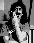 Frank Zappa Prints - Frank Zappa - Chalk and Charcoal Print by Joann Vitali