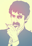 Rock Icon Drawings Posters - Frank Zappa Poster by Giuseppe Cristiano