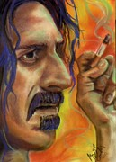 Music Portraits Pastels - Frank Zappa by Mark Anthony