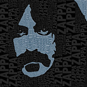 Singer Mixed Media Originals - Frank Zappa  by Tony Rubino