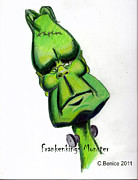 Celebrities Drawings Originals - FrankenKings Monster by Chris Benice