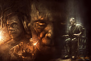 Monsters Digital Art - Frankenstein by Casey Callender