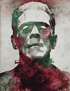 Dracula Digital Art Posters - Frankenstein Poster by Filippo B