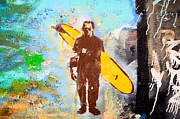 Frankenstein Surf Graffiti Print by Amy Fearn